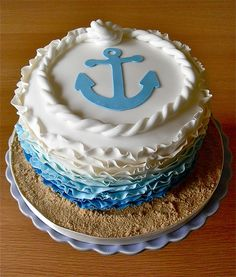 Anchor Cake ombre icing (without the ruffles)