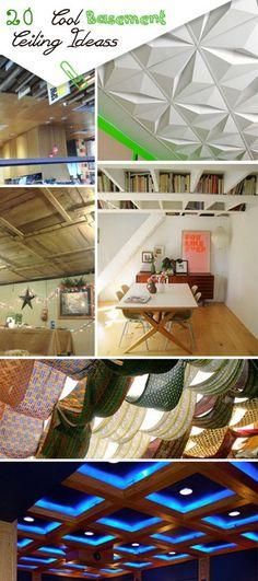 Cool Basement Ceiling Ideas!