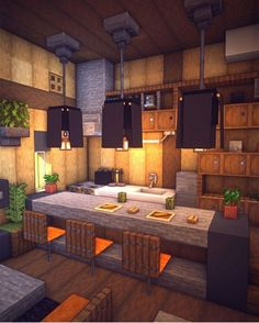 How to build Beautiful House - Minecraft Architecture Minecraft, Modern Minecraft Houses, Minecraft House Plans, Minecraft Mansion, Minecraft Interior Design, Minecraft Houses Blueprints, Minecraft Room, Minecraft House Designs, Minecraft Furniture