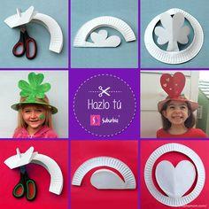 #HazloTú Pasa una tarde muy creativa con tus peques haciendo divertidos sombreros con platos desechables de cartón.