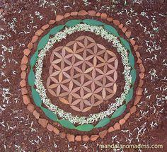 ~~magnolia leaf, buckeye blossoms, buckeye leaf, clay earth rock on a clay earth canvas~~ :: Color/Shape/Medium Organic Art, Magnolia Leaves, Color Shapes, Flower Of Life, Dreamcatchers, Land Art, Mandala Art, Medium Art, Mandalas