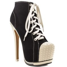 ZiGi Girl Salute Its like Chucks. but with heels! Dream Shoes, Crazy Shoes, Funky Shoes, Womens High Heel Boots, Celebrity Shoes, Killer Heels, Stiletto Shoes, Winter Shoes, Beautiful Shoes