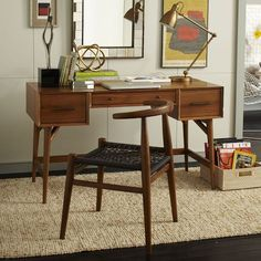 West Elm offers modern furniture and home decor featuring inspiring designs and colors. Create a stylish space with home accessories from West Elm. West Elm Mid Century, Mid Century Desk, Mid Century House, Mid Century Furniture, Minimalist Interior, Minimalist Home, Minimalist Bedroom, Home Office Furniture, Modern Furniture