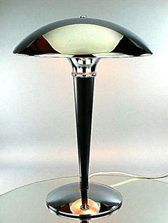 VINTAGE-ART-DECO-BAUHAUS-MODERNIST-DESIGN-TABLE-LAMP-DESK-LIGHT-CHROME-REEDITION