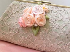 Lace clutch purse Romantic melody by ExpressiveMe on Etsy