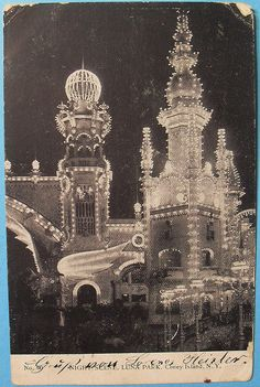 1900s LUNA PARK at CONEY ISLAND Night Scene BROOKLYN New York City Vintage Postcard by Christian Montone, via Flickr