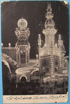 1900s LUNA PARK at CONEY ISLAND Night Scene BROOKLYN New York City Vintage Postcard by Christian Montone, via Flickr