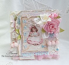 - DT The Sisterhood of Crafters Tiny Miracles, Summer Heat, Vintage Cards, Cool Designs, Decorative Boxes, Card Making, Paper Crafts, Frame, Albums