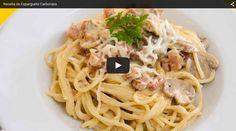 Receitas Típicas Portuguesas e não só! Aprenda com esta Receita como fazer um delicioso Esparguete à Carbonara -- VER RECEITA