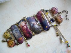 Collage Cuff  Magical Realm by CoCoJoJoOriginals on Etsy, $129.00