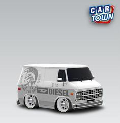 GMC Vandura 1983 - Diesel by Arnold. This is special skin where you can change color. Just paint your car then apply skin.