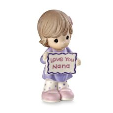 Precious Moments™ Girl Holding Love You Nana Sign Porcelain Figurine - Bed Bath & Beyond