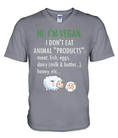 5784caae379 This vegan tee features friendly sheep and an introduction that is more  important than one's own