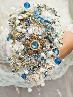 Bruidsboeket met sieraden