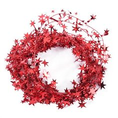 23 Feet Red Star Tinsel Garland Christmas Decoration >>> You can get more details by clicking on the image.