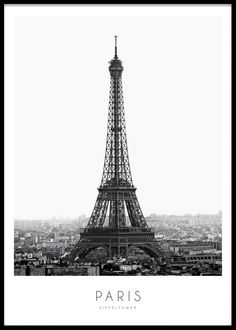 Stylish poster with photography of the Eiffel Tower in Paris. - Stylish poster with photography of the Eiffel Tower in Paris. Great and modern poster with photo art - Bitch Wallpaper, Wall Tumblr, Paris Poster, Poster Online, Black And White Posters, Paris Black And White, Black Art, World Map Poster, Paris Eiffel Tower