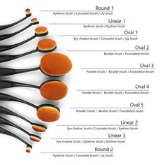 Soft Oval Toothbrush Makeup Brush Set Power Foundation Brushes Tool Black - Condition: New: A brand-new, unused, unopened, undamaged item (including handmade items). See the s - Makeup Order, Make Makeup, Makeup Kit, Makeup Ideas, Contour Makeup, Skin Makeup, Makeup Brush Uses, Oval Makeup Brushes, Makeup Brush Guide