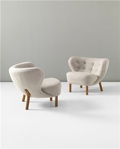 View Pair of 'Little Petra' chairs by Viggo Boesen sold at Nordic Design on 27 September 2012 London. Sofa Design, Console Design, Interior Design, Modern Interior, Cool Furniture, Modern Furniture, Furniture Design, Nordic Design, Modern Design