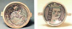 ORVIETO: MAIOLICA TARDO-MEDIEVALE VERDE E BRUNA (ARCAICA), SECOLO XIII-XV - Maiolica Italiana 14th Century, Decorative Plates, Pottery, Personalized Items, Green, Characters, Italy, Dishes, Art