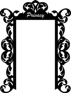 Wall Decals  Privacy Screen India, Decorative, Ogee, Room Divider, Filigree-WALLTAT.com Art Without Boundaries