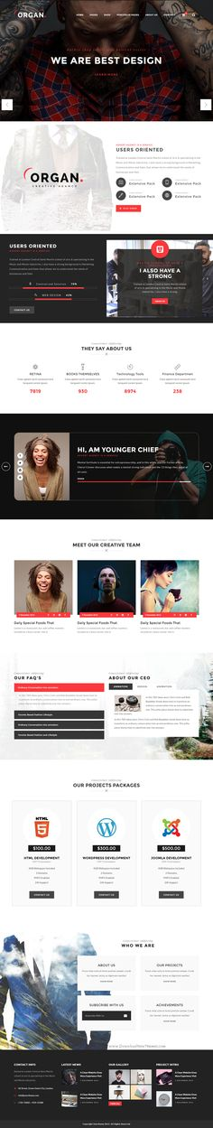 Organ is a minimal, creative The Multipurpose Responsive HTML5 Template. Comes with 22 stunning Pre-defined Homepages.