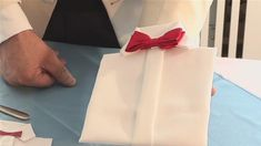 A how to video on How To Make A Dress Shirt Napkin that will improve your napkin folding skills. Learn how to get good at napkin folding from Videojug's hand. Paper Napkin Folding, Paper Napkins, Dining Etiquette, Dinner Jacket, Party Table Decorations, Dress Making, Kids Crafts, Fathers Day, Diy Projects