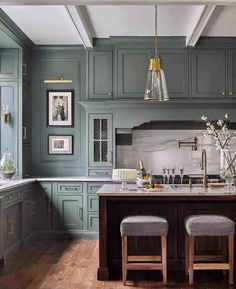 The Fresh Appeal of Green Cabinets - Classic Casual Home