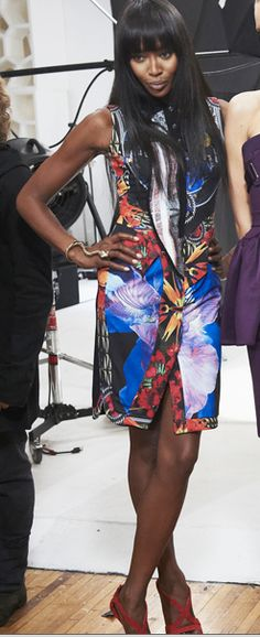 Naomi in Bernard Delettrez snake cuff and ring - runway2street.com