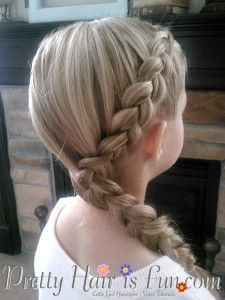 How To: Side Dutch Braid Pretty Hair is Fun hair; wed… How To: Side Dutch Braid Pretty Hair is Fun hair; Easy Hairstyles For Kids, Chic Hairstyles, Princess Hairstyles, Braided Hairstyles Tutorials, Toddler Hairstyles, Teenage Hairstyles, Hairstyle Ideas, Braid Tutorials, Kids Hairstyle