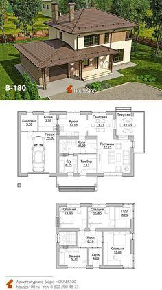 Bungalow House Design, Modern House Design, House Construction Plan, Beautiful House Plans, Model House Plan, Modern Farmhouse Plans, Sims House, Exterior House Colors, Stone Houses