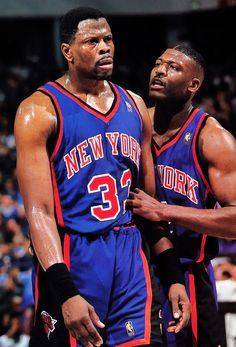 patrick ewing and larry johnson nike New York Knicks Xavier Basketball, Lifetime Basketball Hoop, New York Basketball, Basketball Pictures, Love And Basketball, Basketball Legends, Basketball Uniforms, Sports Basketball, Basketball Players