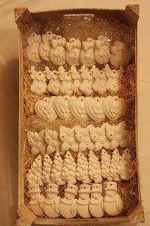 Gessi profumati natalizi. Locandarosa.blogspot.it