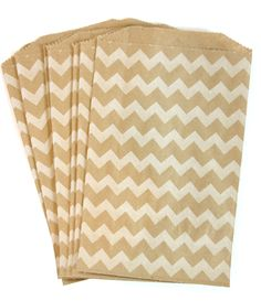15 Chevron Kraft Bags