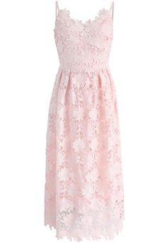 Ebullience of Flowers Crochet Cami Dress in Pink - New Arrivals - Retro, Indie and Unique Fashion