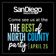 "San Diego Giveaway: Win 2 Tickets To ""Best Of North County"" Party Tomorrow! San Diego Events, San Diego Living, Party Drinks, Read More, Ticket, Giveaway"