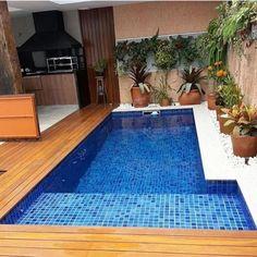 Backyard Pool Designs, Small Backyard Pools, Small Pools, Swimming Pools Backyard, Swimming Pool Designs, Glam House, Hot Tub Garden, Small Pool Design, Villa