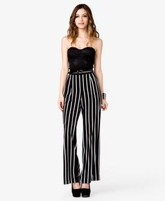 Striped Wide-Leg Pants | FOREVER 21 - 2035792209