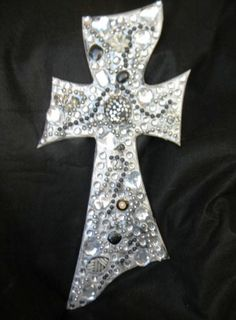 Silver Lovely Cross As Charmed Wood Crosses All Made Here in Texas, USA