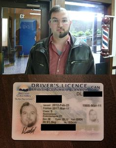 Very Strange Driver's License Photo