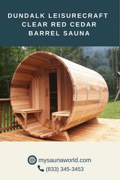 Here are some image examples of different ways to customize your Dundalk LeisureCraft Barrel Sauna: adding a porch, robe hooks, different front door, protective roof covering, and a canopy over the entrance. You can assemble your barrel sauna very easily, and at the same time achieve the look you prefer! PLUS, our September Sauna Sale is still going on! Get ANY Dundalk Sauna and save $300 with a FREE Elite Accessory Package. Click here for more details! 🤩 Indoor Sauna, Indoor Outdoor, Outdoor Decor, Image Examples, Sauna Lights, Wood Burning Heaters, Barrel Sauna, Sauna Heater, Traditional Saunas
