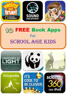 10 Free Book Apps for School Age Kids #kidsapps #books #kidlit #Free #elementary