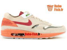"Nike Air Max 1 Nl Premium ""Clot"" - Chaussure Nike Running Pas Cher Pour Homme  Rouge/Foncé 313227-161"