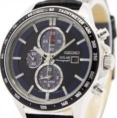 Seiko Men's Solar Chronograph Watch - In Stock, Free Next Day Delivery, Our Price: Buy Online Now Seiko Solar, Seiko Men, Seiko Watches, Chronograph, Watches For Men, 100m, Shakespeare, Florence, Delivery