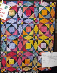 Quilt Name: Storm At Sea Made By: Dorothy Gillett Pattern: John Frazer Workshop Quilted By: Dorothy Gillett