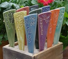 Hey, I found this really awesome Etsy listing at https://www.etsy.com/listing/198230728/6-plant-markers-herbs-garden-stakes-a