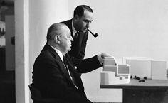 Estudios de genios Ludwig Mies van der Rohe (1886 – 1969). Arquitecto Alemán