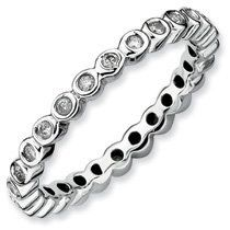 0.377ct Captivating Silver Stackable Diamond Ring. Sizes 5-10 Jewelry Pot. $229.99. 30 Day Money Back Guarantee. Fabulous Promotions and Discounts!. All Genuine Diamonds, Gemstones, Materials, and Precious Metals. Your item will be shipped the same or next weekday!. 100% Satisfaction Guarantee. Questions? Call 866-923-4446