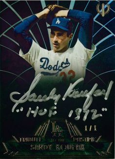 Dodgers Blue Heaven: 2014 Topps Tribute Baseball - The Dodgers Autographed Cards -  Tribute to the Past Time                 #TPT-SK Sandy Koufax