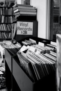 Vinyl records. used to go to Wallichs Music City to listen to records<3 for dates