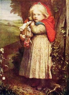 George Frederic Watts - Red Riding Hood. 1880